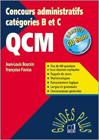 Guide concours administatif, QCM epub, pdf