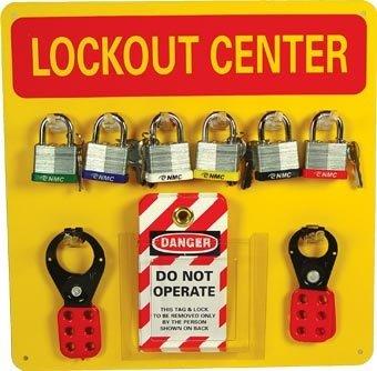 [해외]NMC 10 피스 잠금 태그 아웃 센터 키트 (후크 및 소모품 포함)/NMC 10 Piece Lockout Tagout Center Kit with Hooks and Supplies