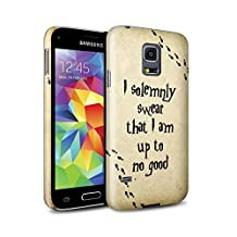 STUFF4 Matte Hard Back Snap-On Phone Case for Samsung Galaxy S5 Mini / Marauders Map Design / School Of Magic Collection