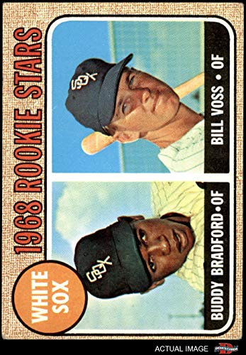 1968 Topps # 142 White Sox Rookies Buddy Bradford/Bill Voss Chicago White Sox (Baseball Card) Dean's Cards 4 - VG/EX White Sox