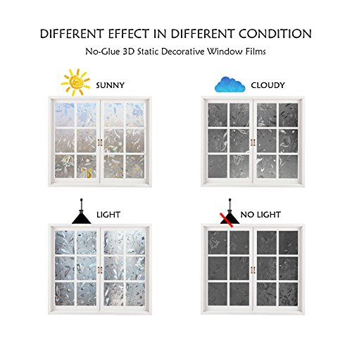 window film inches 3d static privacy decoration self adhesive for uv blocking heat. Black Bedroom Furniture Sets. Home Design Ideas