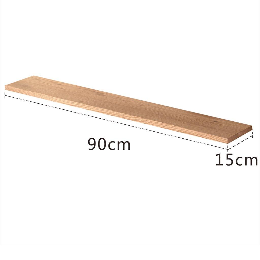 PM-Borders Wood Shelf Wall Mount Assembling Wall shelf Floating Shelf TV Wall Decorative Frame (DIY assembly&Load 10KG) (Size : 90CM)