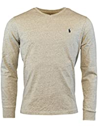 Polo Ralph Lauren Mens Long Sleeve V-Neck Logo T-Shirt