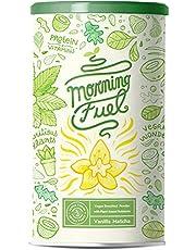 Morning Fuel - Vanilla Matcha Ontbijt Shake met veel voedingsstoffen - Eiwit van gekiemde erwten, quinoa, chia, MCT-olie, haver, algen, alfalfa, spinazie, maca - Vitamine B6 + B12 - 600g