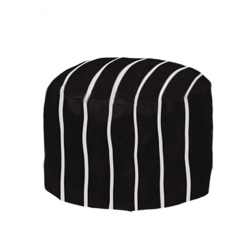 Gracelife Chef Cap Poly-Cotton Blend Pill Box Chef Hat Flat Color Optional Black COMINHKR073819