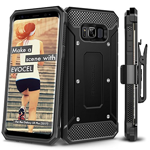 Galaxy S8 Plus Case, Evocel [Explorer Series] Premium Full Body Case [Slim Profile][Rugged Holster] WITHOUT screen protector For Galaxy S8+ (SM-G955)(2017 Release)