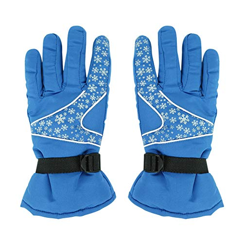 ITODA Skiing Gloves Winter Thermal Waterproof Windproof Snow Shell Full Palm Protection Breathable Gloves with Elastic Adjustable Strap for Motorcycle, Cycling, Snowboarding, Shoveling
