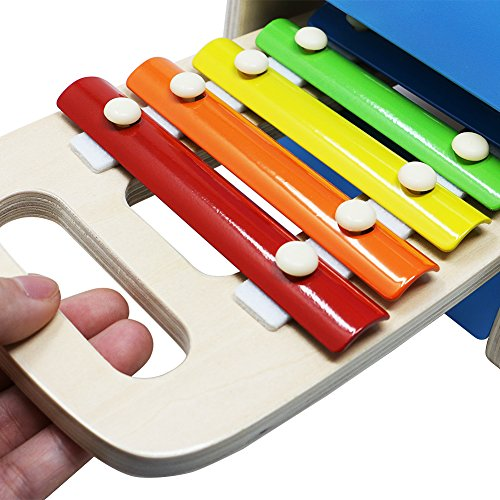 Lewo Wooden Toddlers Musical Toys Pound Tap Bench Xylophone Shapes Sorter Early Educational Games Kids by Lewo (Image #3)
