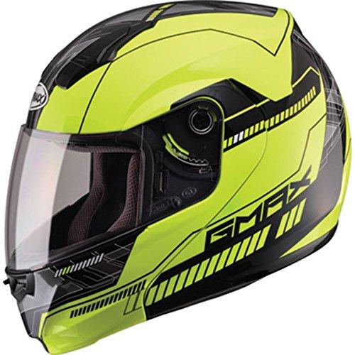 (GMax MD04 Hi-Viz Yellow/Black Modular Helmet -)