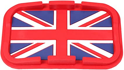 Union Jack Anti-Slip Sticky Phone Coin Pad For MINI COOPER Clubman Countryman T3