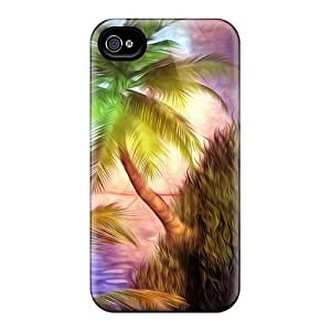 Pretty RaNAzHh5583yvkmw Iphone 4/4s Case Cover/ Steep Shores At Sunset Series High Quality Case