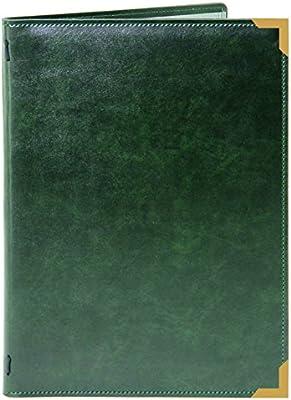 PACK OF 5 verde cuero simulado con anillas carpeta habitación. Código DGF2: Amazon.es: Oficina y papelería