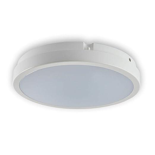 Lámpara LED exterior baño lámpara de techo blanco neutro ...