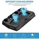 PS5 Vertical Stand Cooling Fan, Dual Controllers