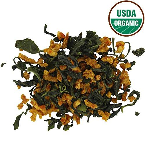 Teas Unique 2018 Korean Jeju Island Organic Green Tea with Mandarin Orange, 100g