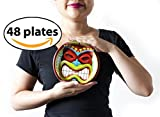 Hawaiian Tiki Small Party Plates, 48 Count. for Tropical and Beach Themed Parties.