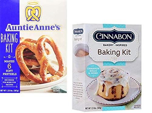 - Auntie Anne's and Cinnabon Make Your Own Baking Kit Variety Pack (2 Pack)