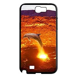 LZHCASE Diy Design Back Case Dolphin for Samsung Galaxy Note 2 N7100 [Pattern-1]