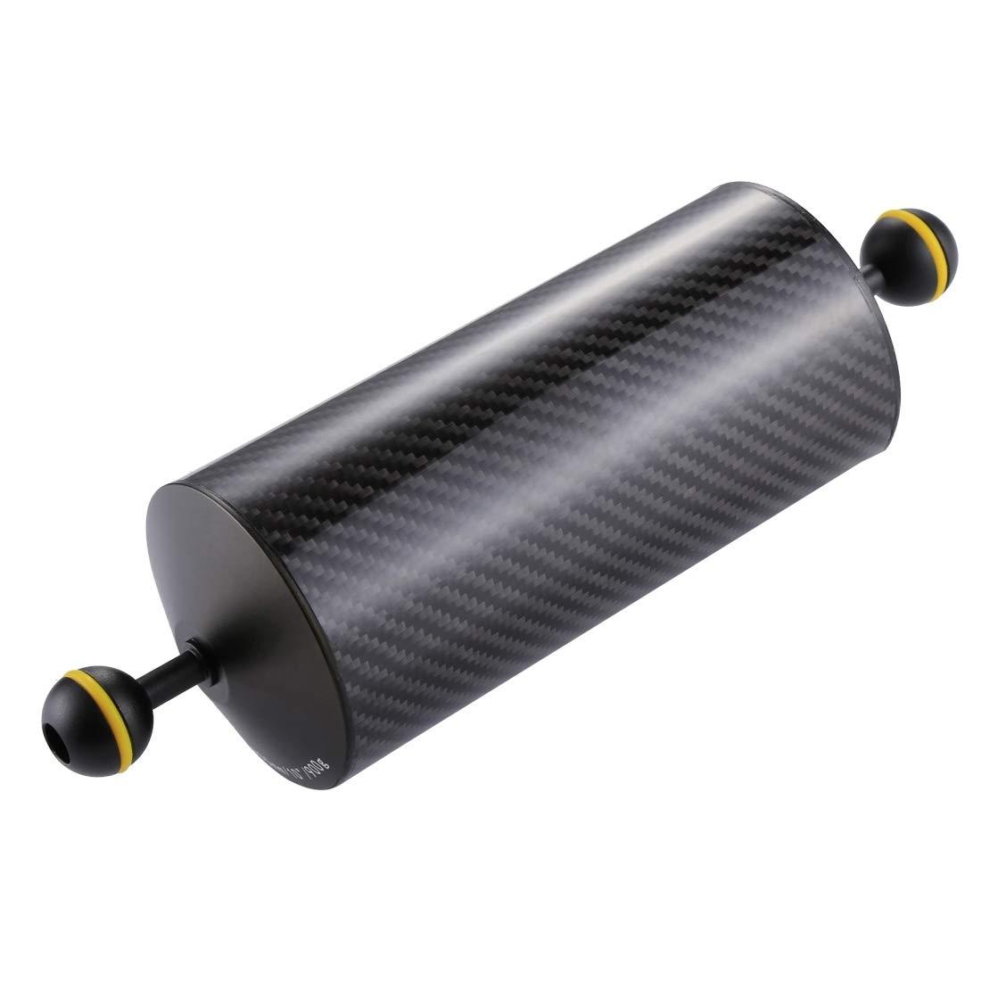 XIAOMIN 10.8 inch 27.5cm Length 80mm Diameter Dual Balls Carbon Fiber Floating Arm, Ball Diameter: 25mm, Buoyancy: 900g Premium Material by XIAOMIN