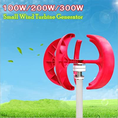 TOYOSO 100W/200W/300W 12V/24V Wind Turbine Generator Windmill; Vertical Axis WINDGENERATOR; VAWT House Boat Garden with or without Charge Controller