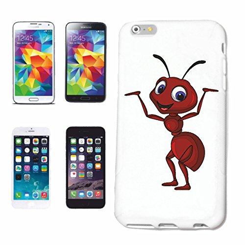 """cas de téléphone iPhone 6+ Plus """"FUNNY ANT INSECTES GRILLE CADRE CRIQUET PELERIN Odland EFFROI GRAS Hüpfer FLY"""" Hard Case Cover Téléphone Covers Smart Cover pour Apple iPhone en blanc"""