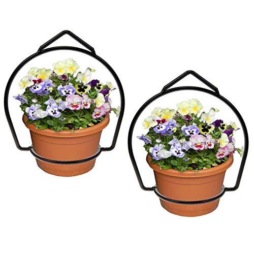 Brinkman (2 Pack) Wrought Iron Flower Flower Pot Plant Hanger Ring Votive Holder Outdoor Hanging Basket