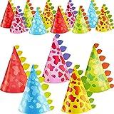20 Pieces Dinosaur Party Hats Cone Dinosaur Birthday Party Hats for Kids Birthday Party Supplies, 5 Styles