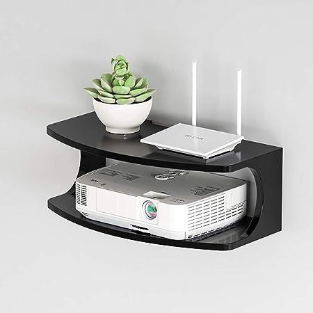 TLMY Consola Flotante montada en la Pared Dispositivo/Dispositivo de transmisión de parlantes de la Caja de TV del enrutador de WiFi. Mueble para TV de Pared (Color : Black): Amazon.es: Hogar