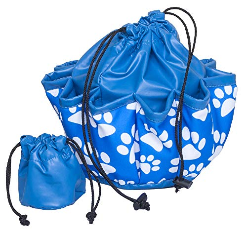 ABS Novelties Paws Pattern 10 Pocket Tote Blue