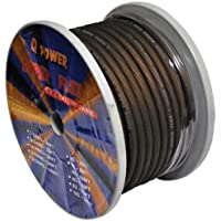 Q Power 4GABLACK 100-Feet 4-Gauge, Ultra Flexible Super Flex Power/Ground Wire for Amp Installation (Black)