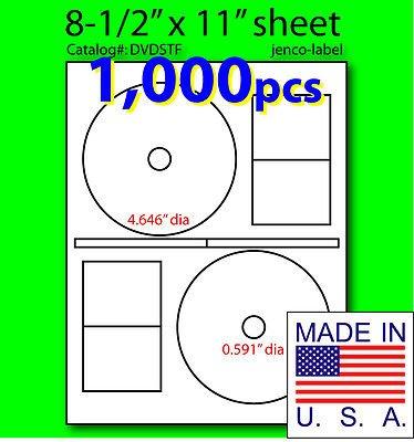 Jenco-Label Dvdstf, 1,000 Cd/Dvd Labels Stomper Compatibl...