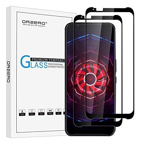 [2 Pack] Orzero Tempered Glass Screen Protector Compatible for ZTE Nubia Red Magic 3 (6,65
