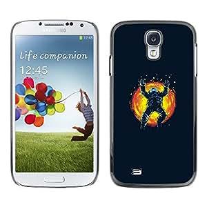 EJOY---Cubierta de la caja de protección la piel dura para el / Samsung Galaxy S4 / --Espacio Astronauta Sun Explosión