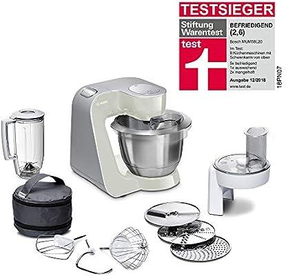 Bosch MUM58L20 CreationLine Robot de cocina con accesorios, 1000 W, 3.9 litros de capacidad, color gris: Amazon.es ...