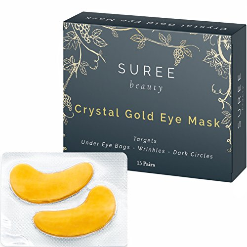 Patch Treatment ((15 Pairs) Hydrating Under Eye Mask - Dark Circles Under Eye Bags Treatment - Gold Collagen Eye Pads - Eye Mask for Puffy Eyes - Under Eye Patches)