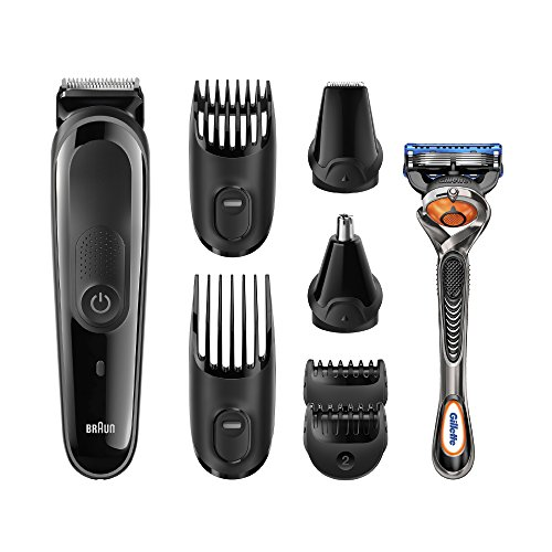 braun multi grooming kit mgk3060 8 in 1 beard hair trimmer for men precision face and head. Black Bedroom Furniture Sets. Home Design Ideas