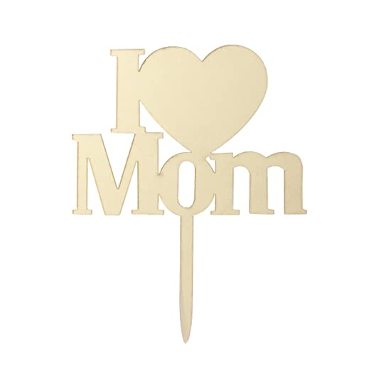 BESTOYARD I LOVE MOM Topper Tarta Mamá Cake Topper ...