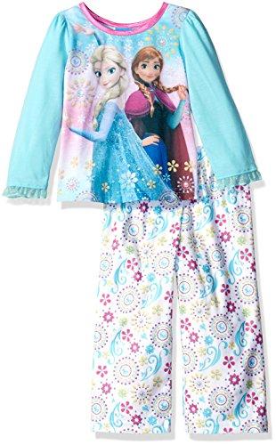 Disney Little Girls' Toddler Frozen 2-Piece Pajama Set, - Frozen Footed Pajamas 2t