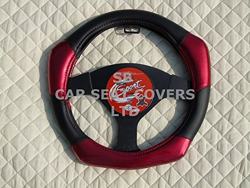 Citroen C4 Cactus Black Chunky Sports Grip Steering Wheel Cover Glove 37cm