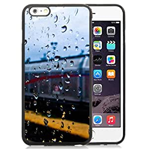 New Beautiful Custom Designed Cover Case For iPhone 6 Plus 5.5 Inch With Rainy Train Window Phone Case