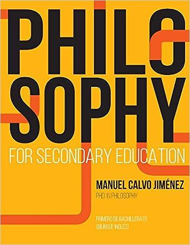 PHILOSOPHY for Secondary Education: 1º BACHILLERATO BILINGÜE INGLÉS Descargar PDF Gratis