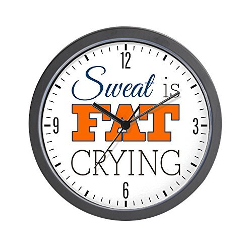 Wall Clock Sweat Is Fat Crying Gym Workout