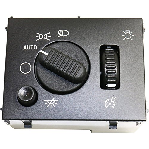 (Dimmer Switch compatible with Chevrolet Silverado 03-07 Also Controls Headlight and Dome Light)
