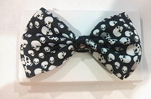 Color Tuxedo Classic Bow Tie, Cravat, Necktie, Neckwear Adjustable Men's Fashion BowTie - Skull head