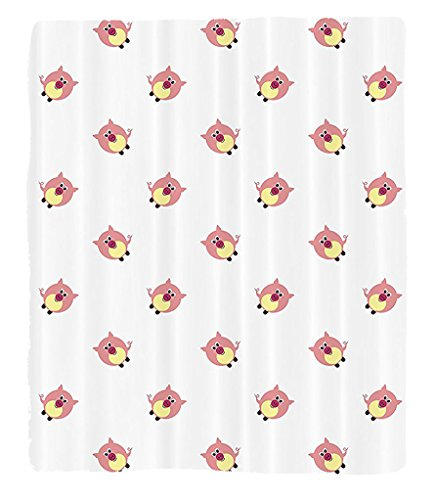 Chaoran 1 Fleece Blanket on Amazon Super Silky Soft All Season Super Plush Pig Decor Collection Cute Pigs on the Backdrop Farm Animals Childish Comic Design Pattern Fabric et oft Pink by chaoran