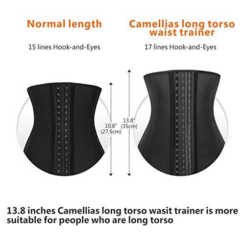 5d3dc76b1d SHAPERX Women 3 Hook Long Torso Columbian Waist Trainer Corset for Weight  Loss