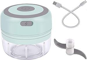 Mini Chopper, USB Rechargeable, Electric Mini Garlic Chopper, Mini Food Chopper, Safe Child Lock, Electric Food Chopper, Best Gift for Mom