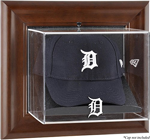 (Detroit Tigers Brown Framed Wall Mounted Logo Cap)