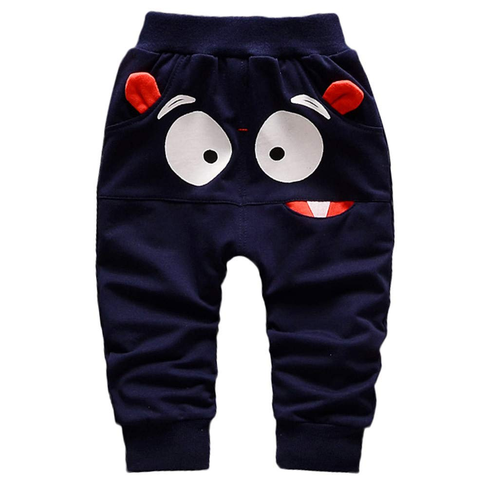 Baby Pants,❤️ Infant Toddler Boy Dinosaurs Print Elasticity Cotton Casual Pants Autumn Winter Bottoms Trousers