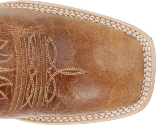 Ariat Mens Mecate Western Cowboy Boot Wildhorse Tan / Fuoco Rosso